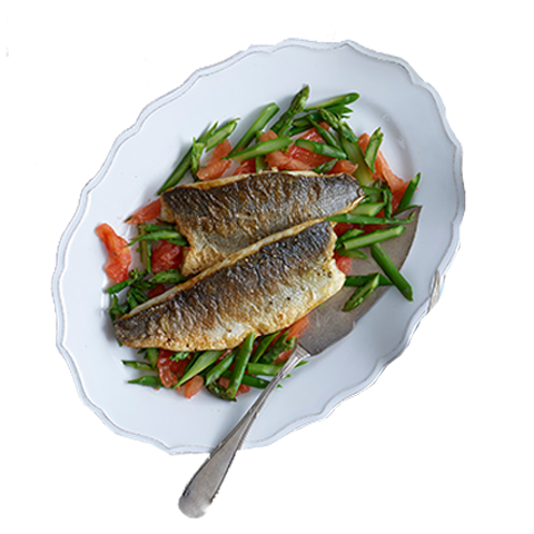 104) Sea Bass With Vegetables (1Kg)