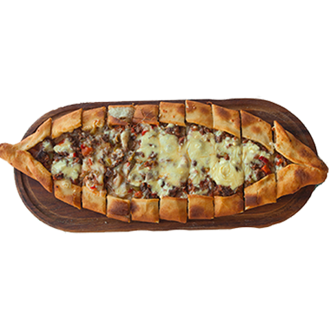 71) Pide With Cheese And Cubed Beef